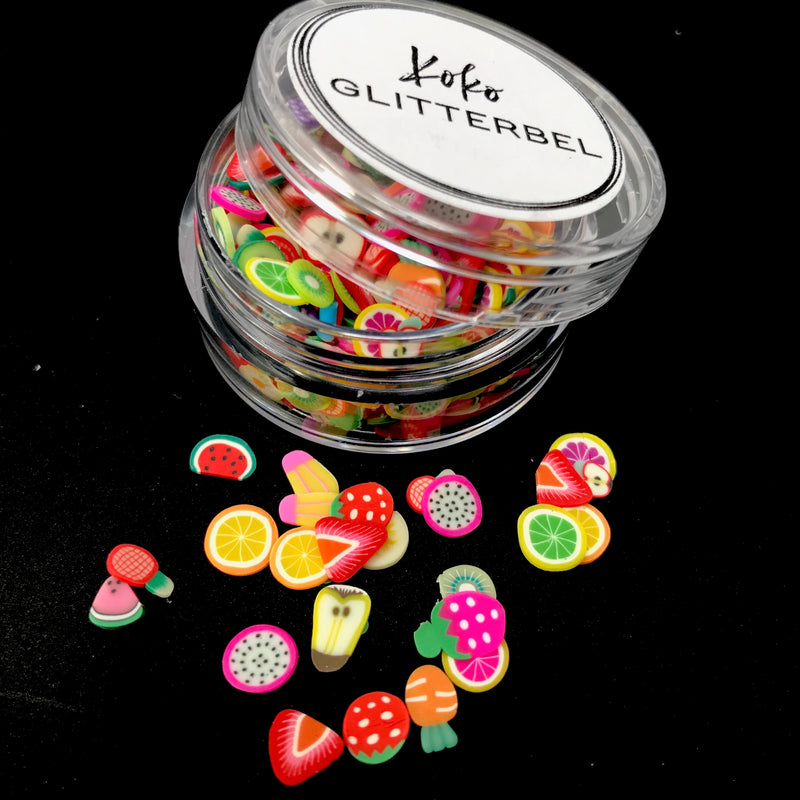 Fruit Mix Slices Clay FIMO