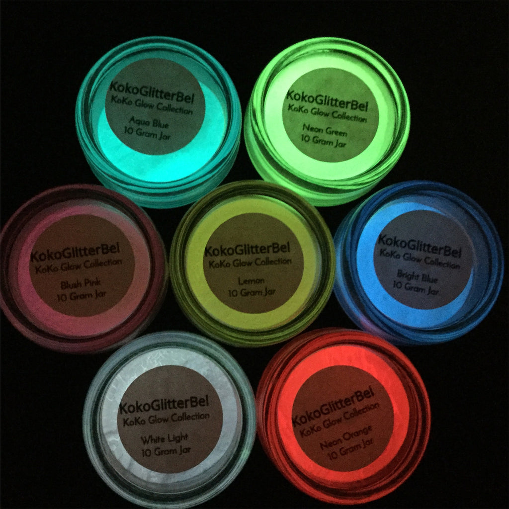 KoKoGlow Pigment Powder- Neon Orange - KokoGlitterBel