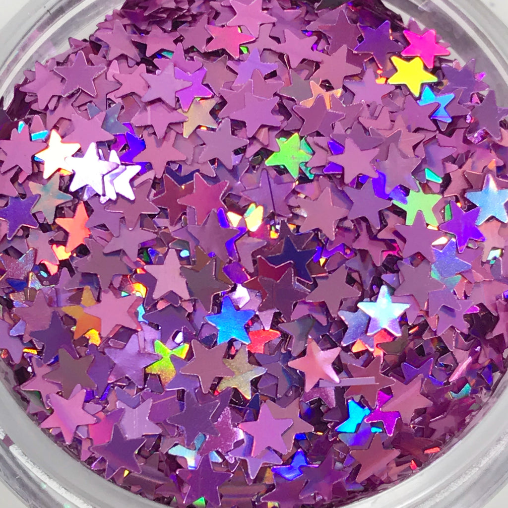 Glitter Stars- Light Purple - KokoGlitterBel