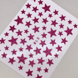 Dark Pink Star Decals