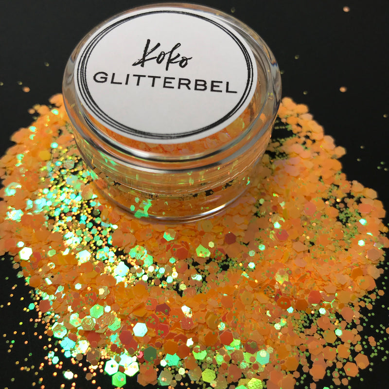 Beachy Much - Neon Hex - KokoGlitterBel