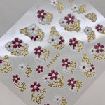 Flower Scroll Decals