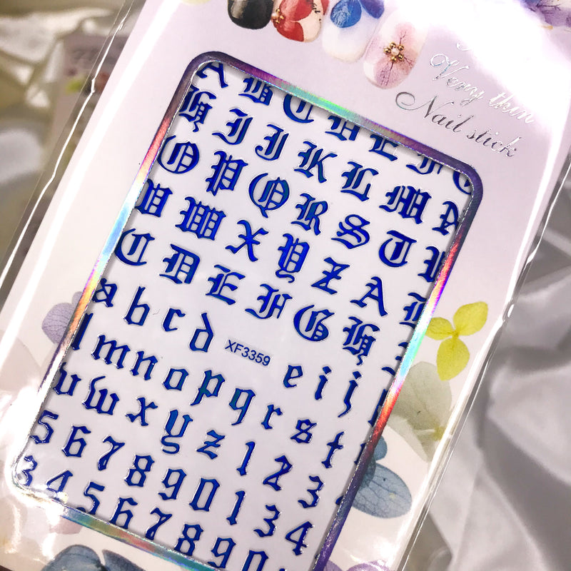 Old English Letter Stickers