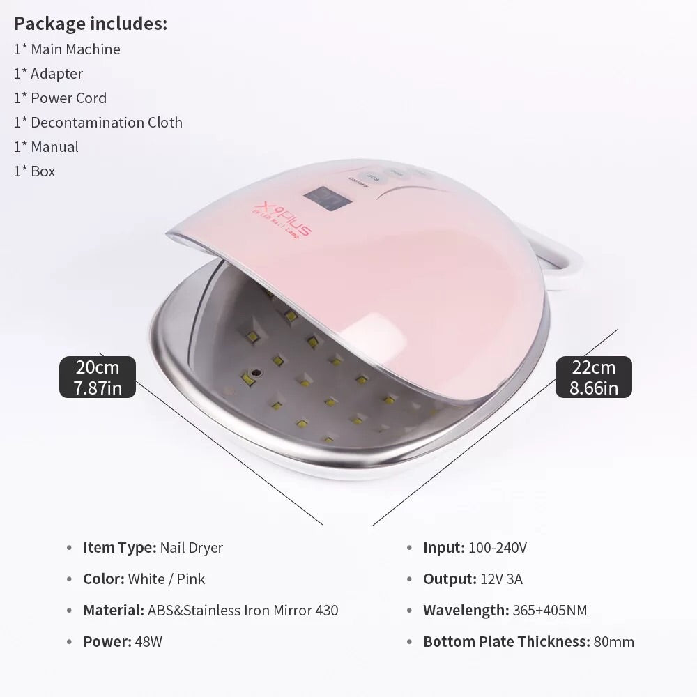 Cordless X9 Plus LED Nail Dryer - KokoGlitterBel