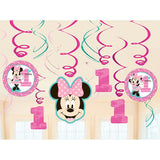 Minnie 1st Birthday Hanging Swirl Decorations (12)