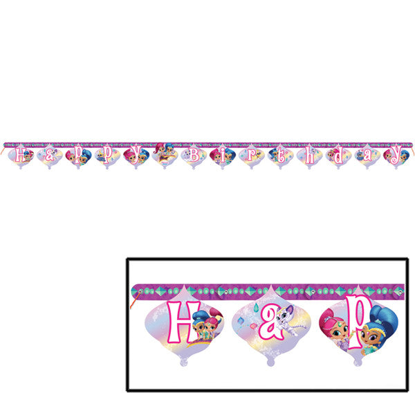 Shimmer And Shine Birthday Banner