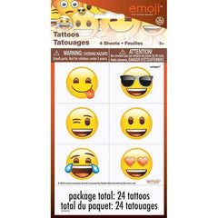 24 Emoji Tattoos on 4 sheets