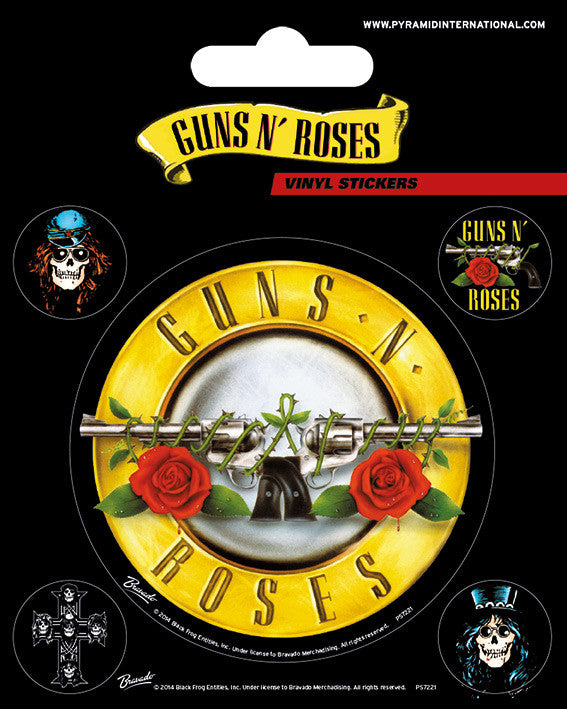 Guns N' Roses Vinyl Stickers