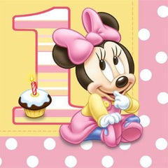 Minnie Mouse 1st Birthday Lunch Napkins (16)