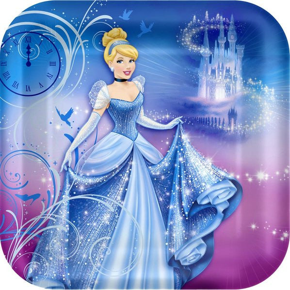 "Cinderella 9"" Lunch Plates (8)"