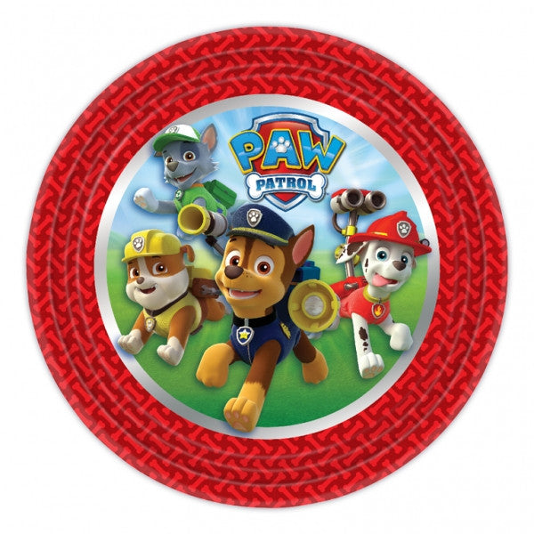 "Paw Patrol Lunch Plates 9"" (8)"