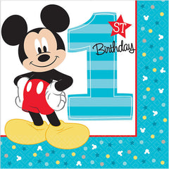 Mickey Mouse 1st Birthday Lunch Napkins (16)