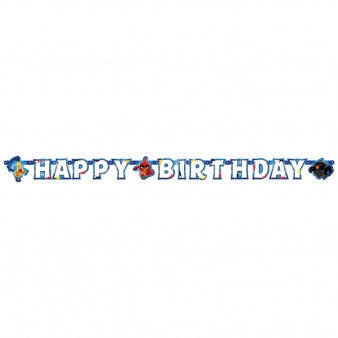 Angry Birds Happy Birthday Banner