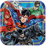 "Justice League Lunch Plates 9"" (8)"