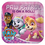 "Paw Patrol Pink Lunch Plates 9"" (8)"