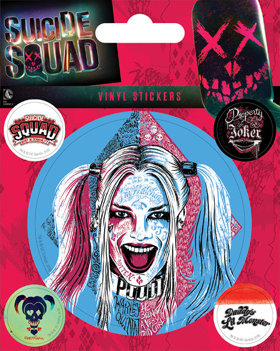 Suicide Squad Harley Quinn Vinyl Stickers