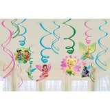 Tinkerbell Hanging Swirl decorations (6)
