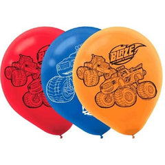 "Blaze and the Monster Machines 12"" Latex Balloons (6 Pack)"