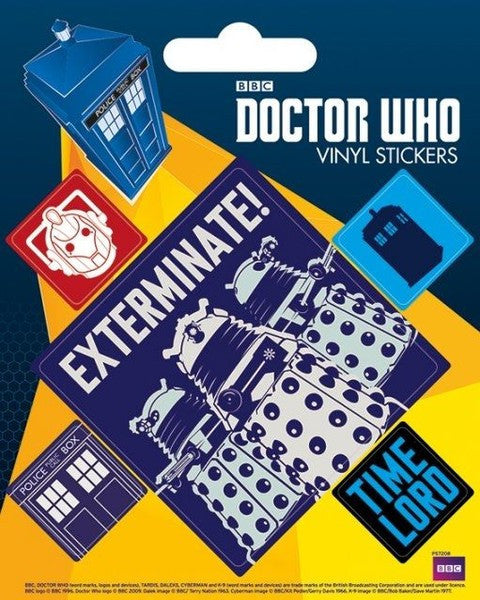 Doctor Who Vinyl Stickers