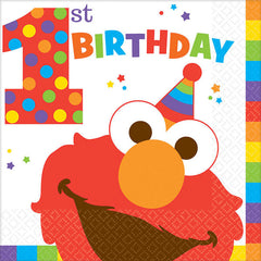 Sesame Street Elmo '1st Birthday' Lunch Napkins (16)