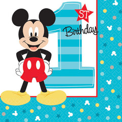 Mickey Mouse 1st Birthday Beverage Napkins (16)