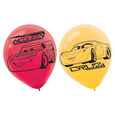 Cars 3 Latex Balloons - Helium Quality (6)