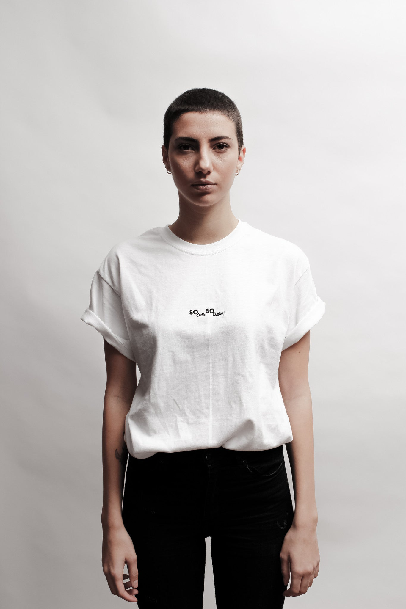 Essential white embroidered shirt