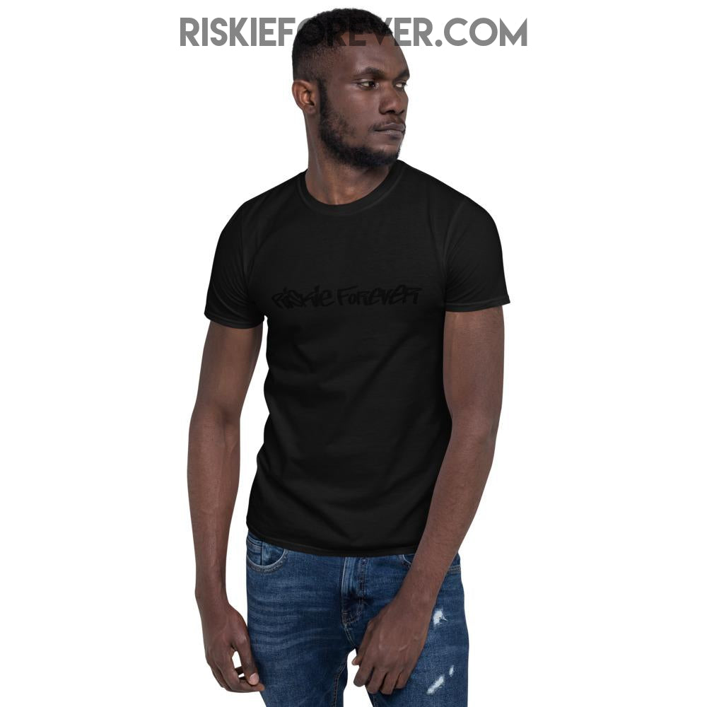 Black-on-Black Riskie Forever® Logo t-shirt