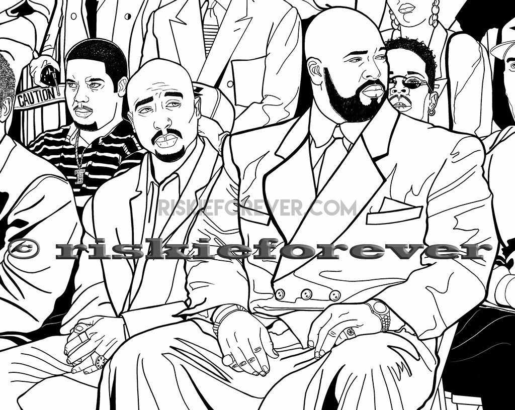 Unauthorized Death Row Records Coloring Book – Riskie Forever®