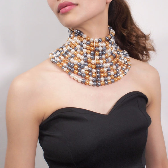 Sunset Pearls Necklace