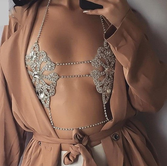All Nighter Chain Bra - Fashion Cheekz