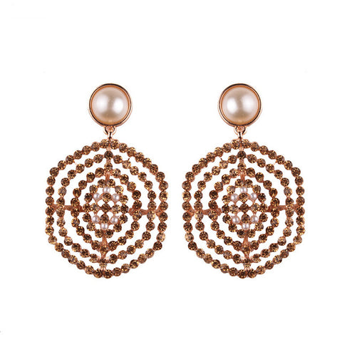 Bull's Eye Crystal Earring