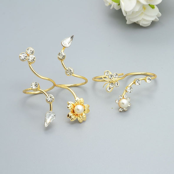 Adrian Rose Pedal Ring Set - Fashion Cheekz