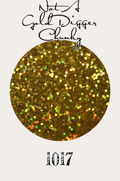 Not A Gold Digger Hologram Chunky Glitter