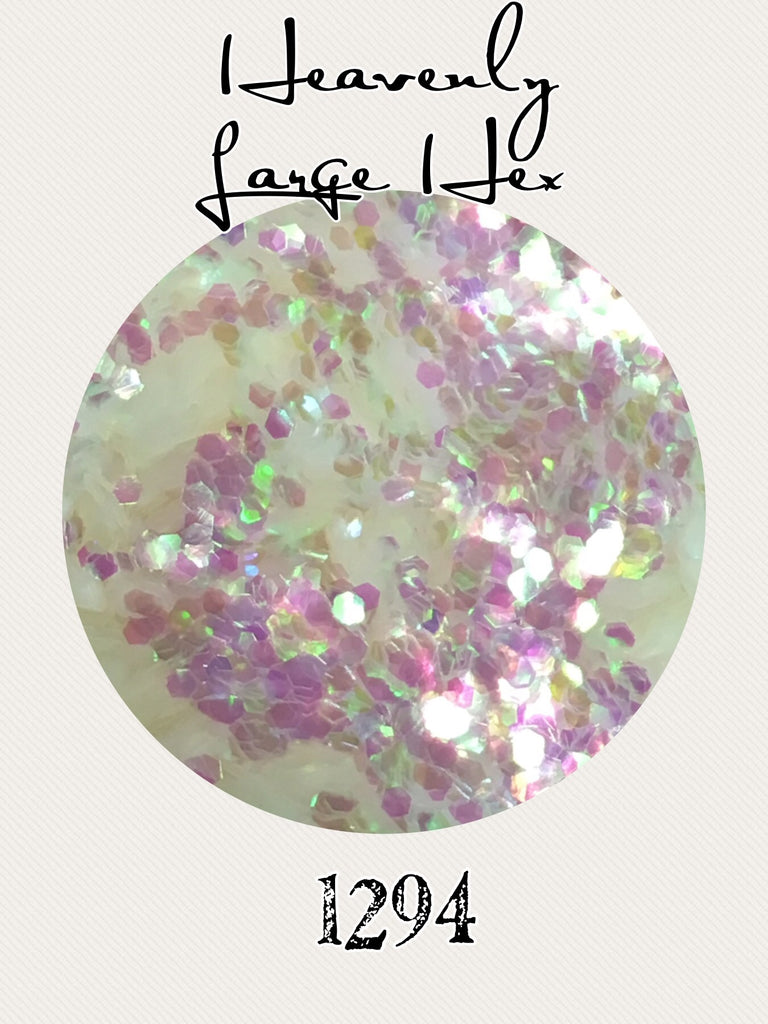 Heavenly Large Hex Chunky Iridescent Glitter