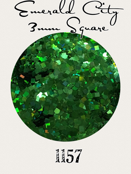 Emerald City Square Hologram Chunky Glitter