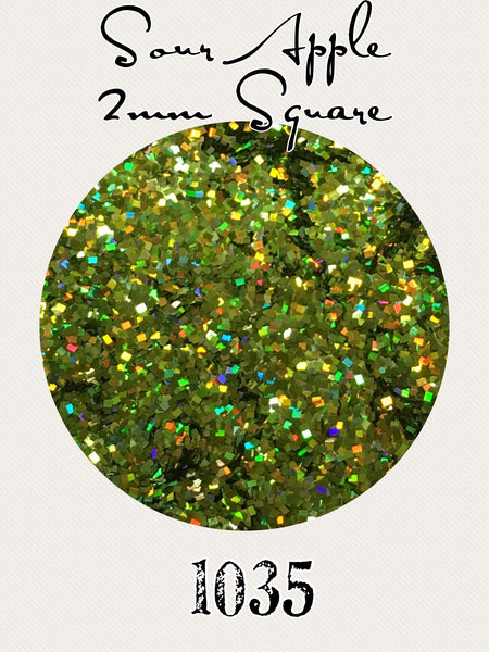 Sour Apple Square Hologram Chunky Glitter