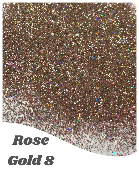 Rose Gold 8 Glitter Mix