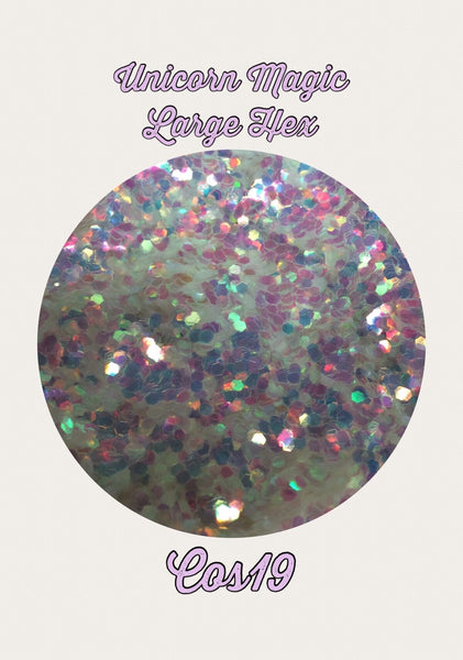 Unicorn Magic Large Hex Cosmetic Glitter
