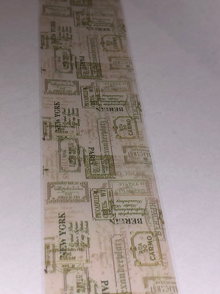 Travel Stamps Nail Foil