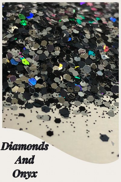 Diamonds and Onyx Chunky Glitter Mix