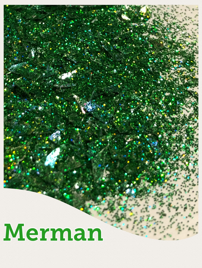Merman  Hologram Chunky Glitter Mix