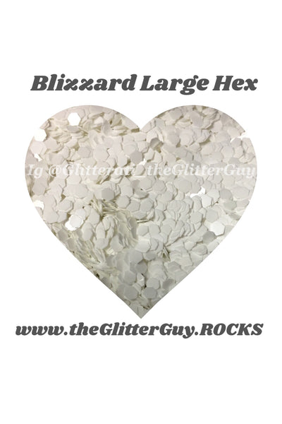 Blizzard Large Hex Glitter