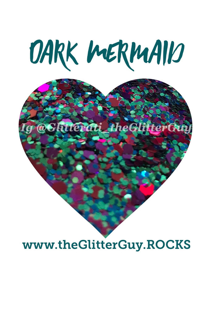 Dark Mermaid Chunky Glitter Mix