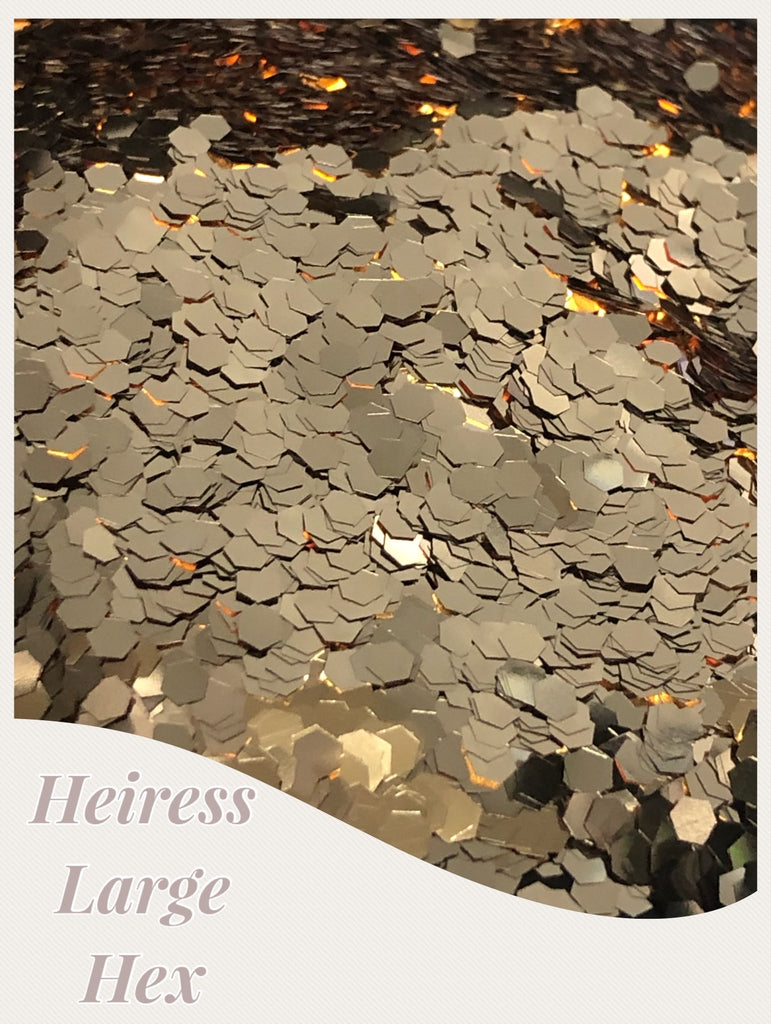Heiress Large Hex Chunky  Glitter