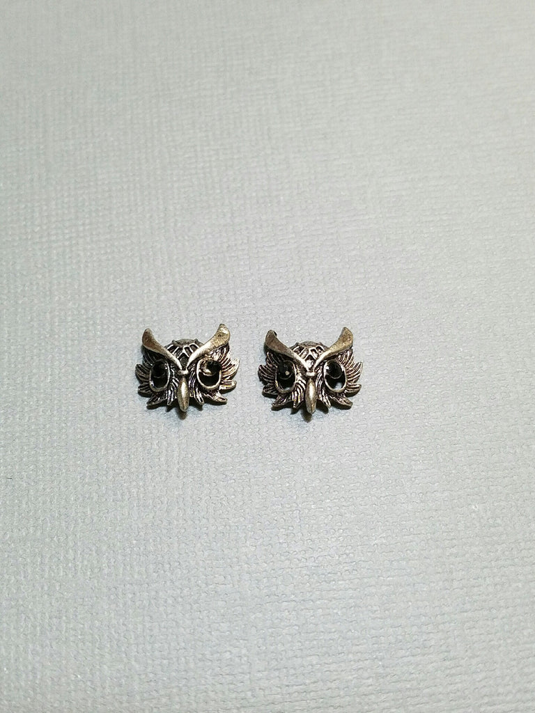 Large Pewter Owls (2)
