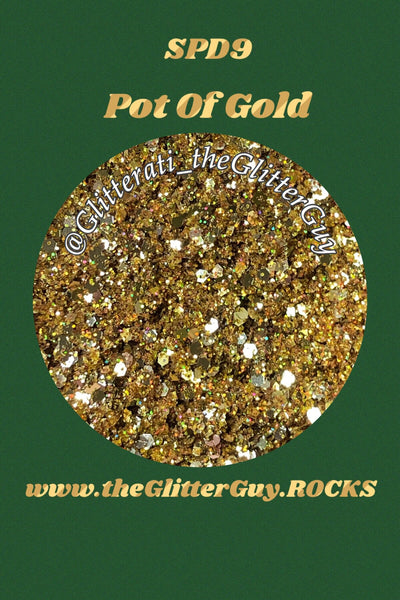 Pot of Gold St Patrick's Chunky Mix Glitter