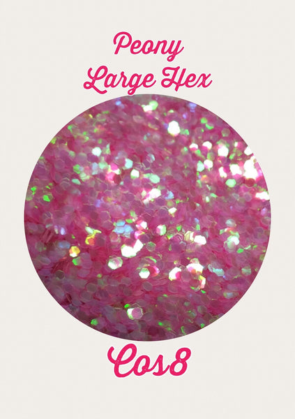 Peony Large Hex Cosmetic Glitter