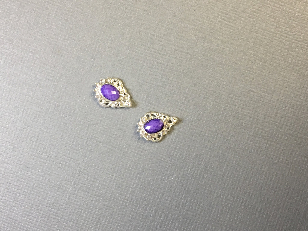Purple Gem in Silver Setting (2)