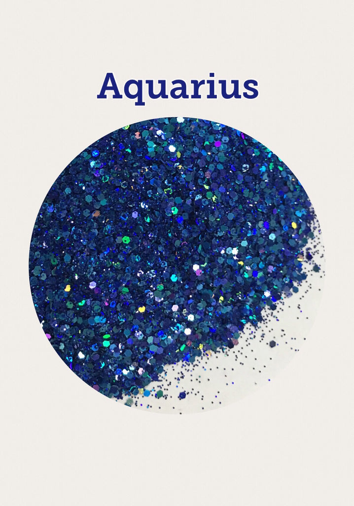 Aquarius Zodiac Chunky Glitter Mix
